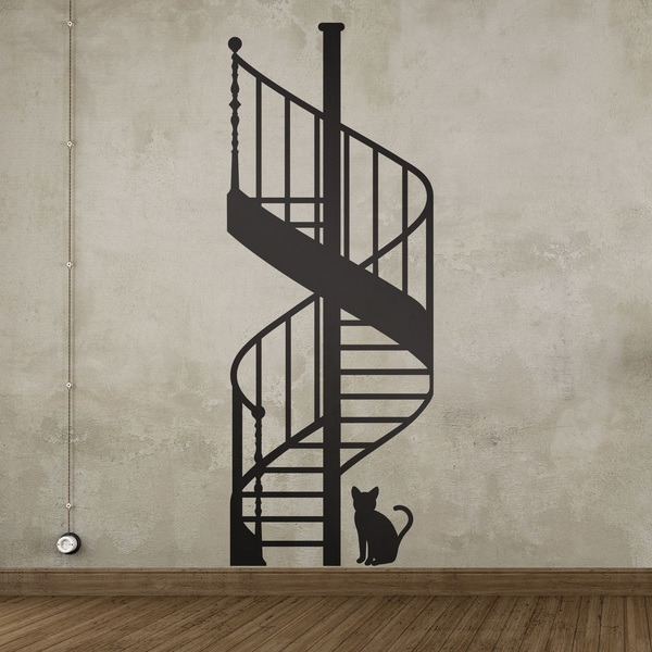 Wall Stickers: Spiral Stairs