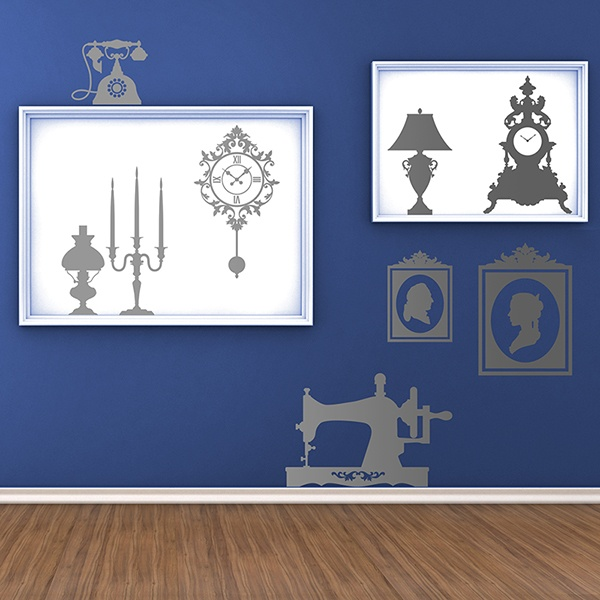 Wall Stickers: kit vintage furniture