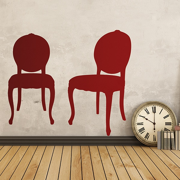 Wall Stickers: Two chairs vintage