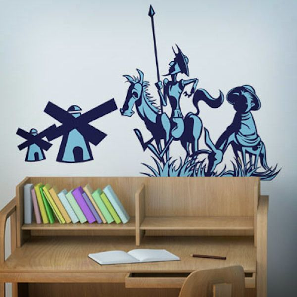 Wall Stickers: Don Quijote y Sancho Panza