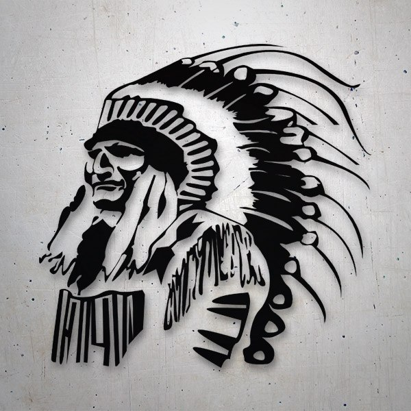 Car and Motorbike Stickers: Great Indian Chief