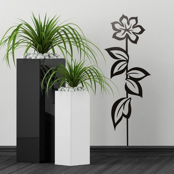 Wall Stickers: Long flower in spring