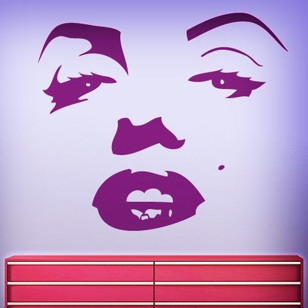 Wall Stickers: Face of Marilyn Monroe