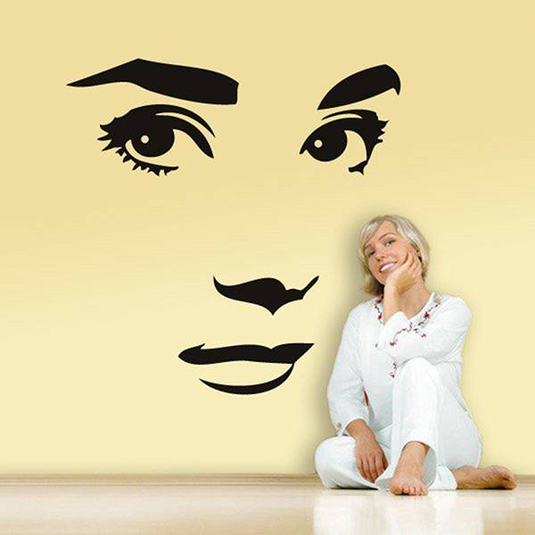 Wall Stickers: Audrey Hephurn face