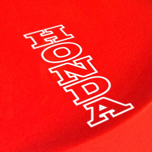 Car and Motorbike Stickers: Honda border Vertical
