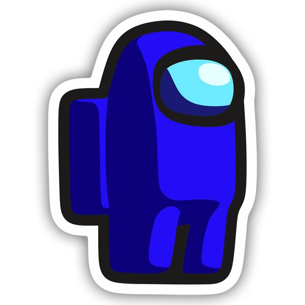 Among Us Personajes X Fortnite Sticker Among Us Dark Blue Muraldecal Com