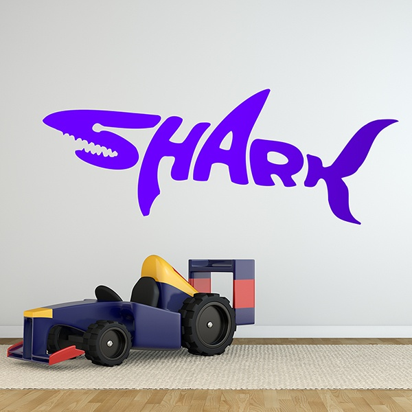 Wall Stickers: Typographic Shark