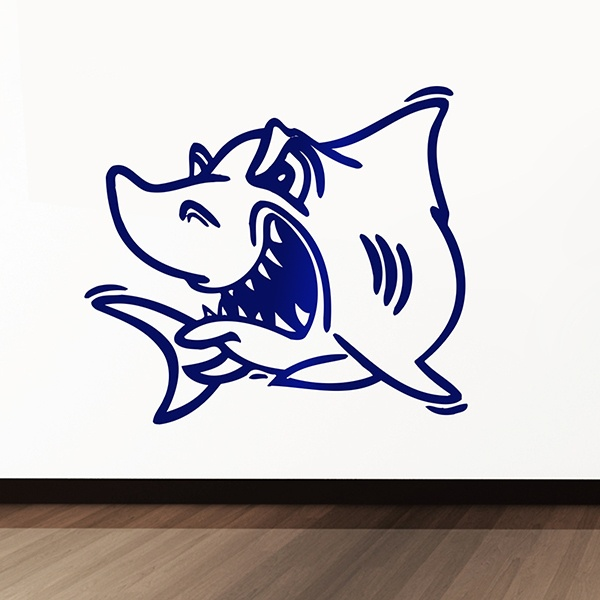 Wall Stickers: Angry shark