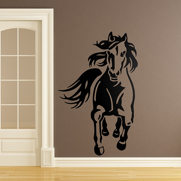 Wall Stickers: Horse trotting