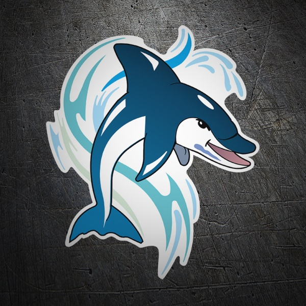 Car & Motorbike Stickers: Dolphin 1
