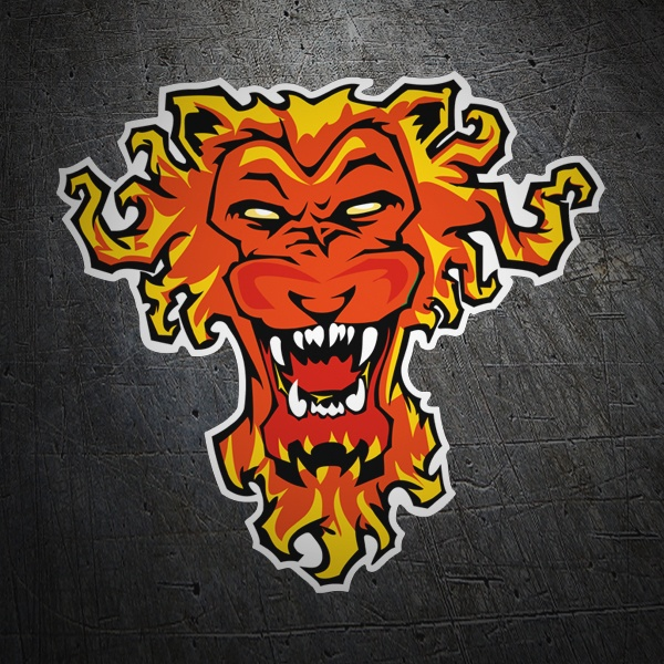 Car & Motorbike Stickers: Lobo fire
