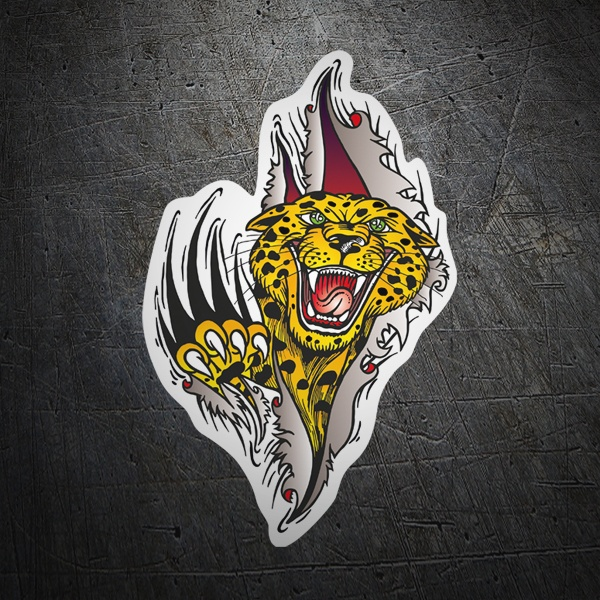 Car & Motorbike Stickers: Leopard zarpazo