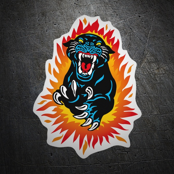 Car & Motorbike Stickers: Panther jump