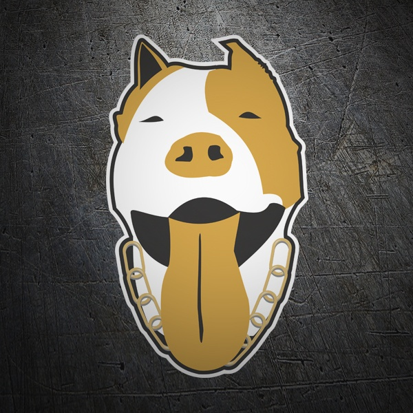 Car & Motorbike Stickers: American Pitbull Terrier