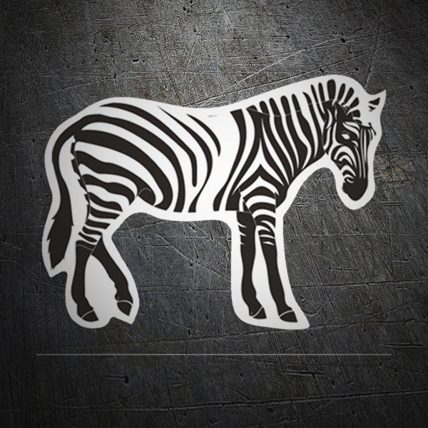 Car & Motorbike Stickers: Zebra 1
