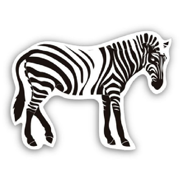 Car and Motorbike Stickers: Zebra 1