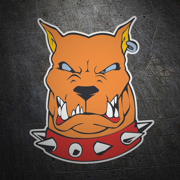 Car & Motorbike Stickers: Rabid dog