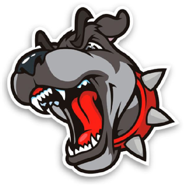Car and Motorbike Stickers: Bull dog