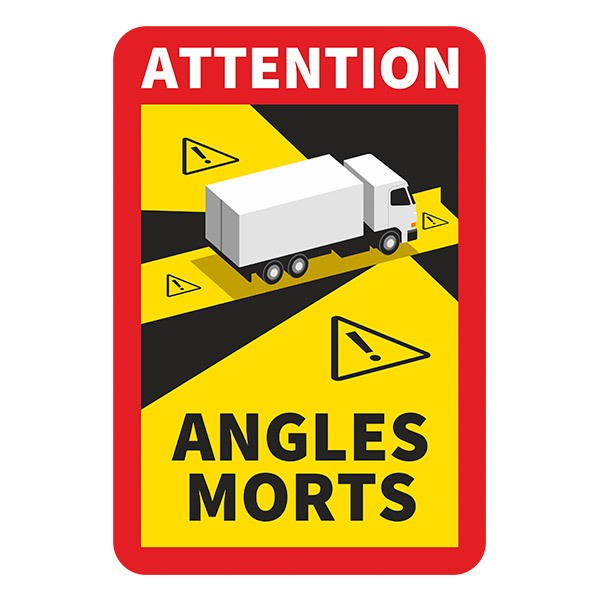 Car & Motorbike Stickers: Dead Angles Trucks