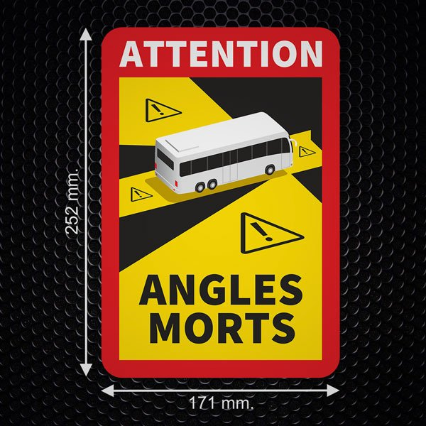 Car & Motorbike Stickers: Dead Angles Buses
