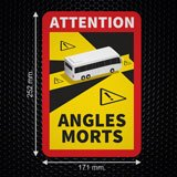 Car & Motorbike Stickers: Dead Angles Buses 3