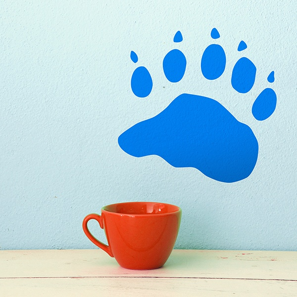Wall Stickers: Black Bear Footprint