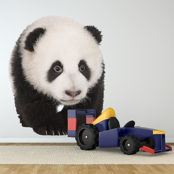 Wall Stickers: Curious panda breeding