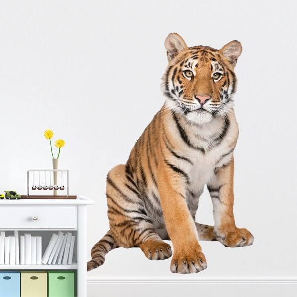 Wall Stickers: Young Siberian tiger