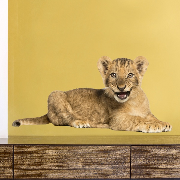 Wall Stickers: Lion cub roaring