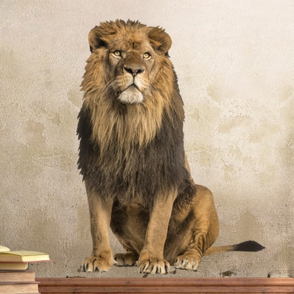 Wall Stickers: Lion Male Alpha