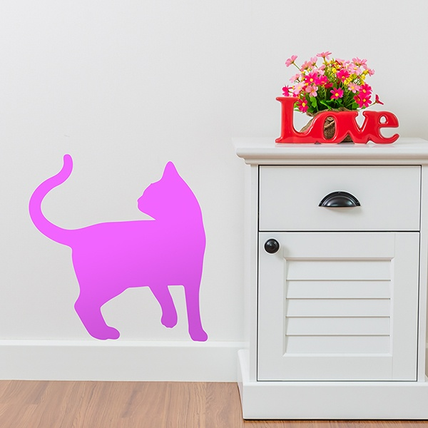 Wall Stickers: Cat silhouette rotated