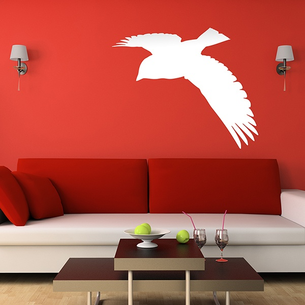 Wall Stickers: Flying pigeon silhouette