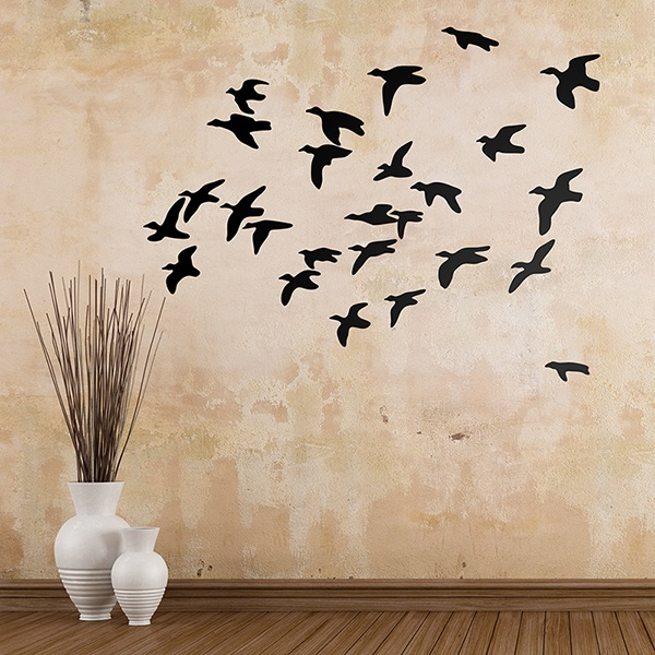 Wall Stickers: Flock birds