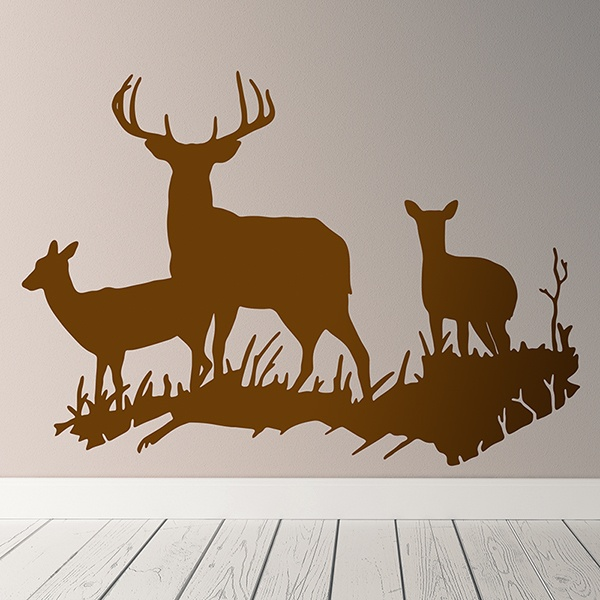 Wall Stickers: Family of Deer