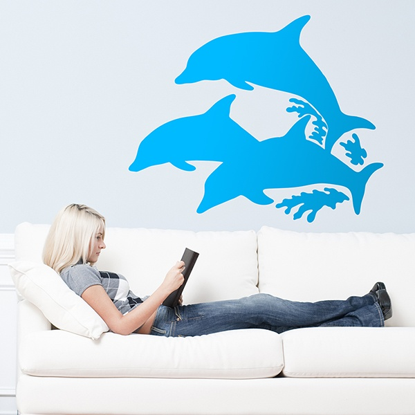 Wall Stickers: Dolphins silhouette