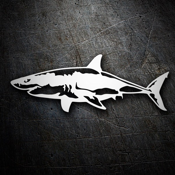 Car & Motorbike Stickers: Shark swimming