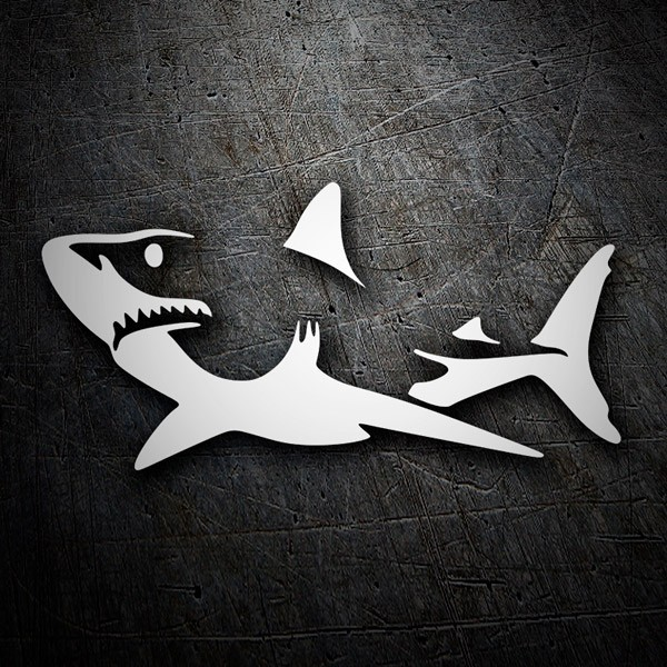 Car & Motorbike Stickers: Shark on alert