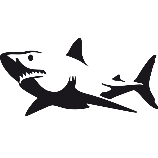 Car & Motorbike Stickers: Shark Alert