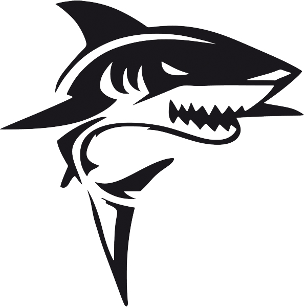 Car & Motorbike Stickers: Shark attacking