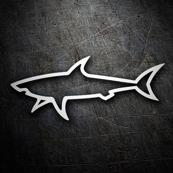 Car & Motorbike Stickers: Shark silhouette