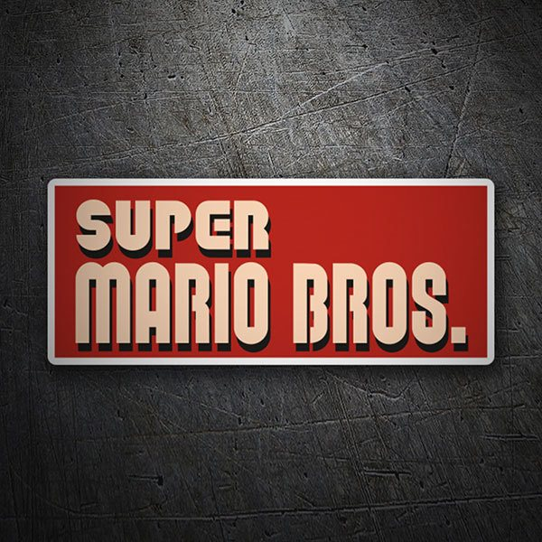 Car & Motorbike Stickers: Super Mario Bros Logo