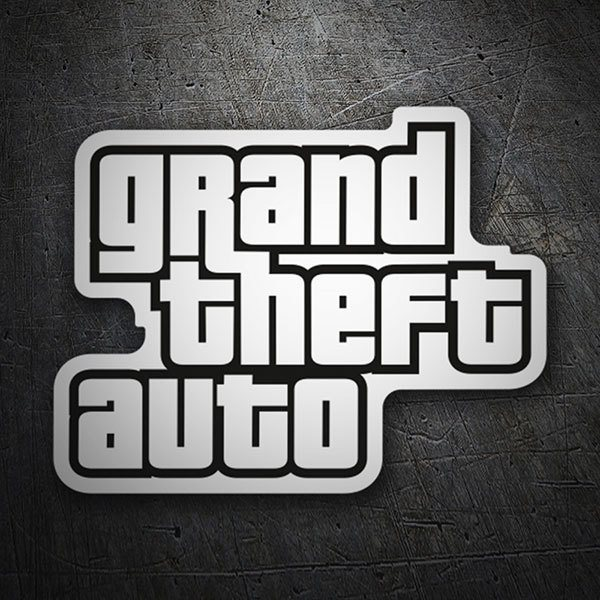 Car & Motorbike Stickers: Grand Theft Auto Logo