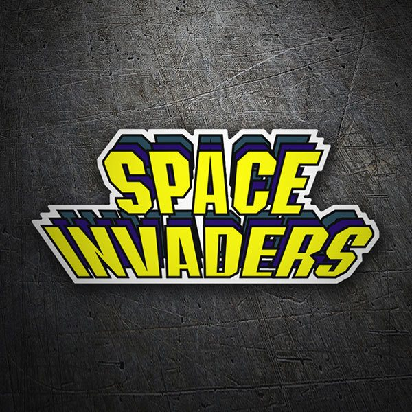 Car & Motorbike Stickers: Space Invaders Relief