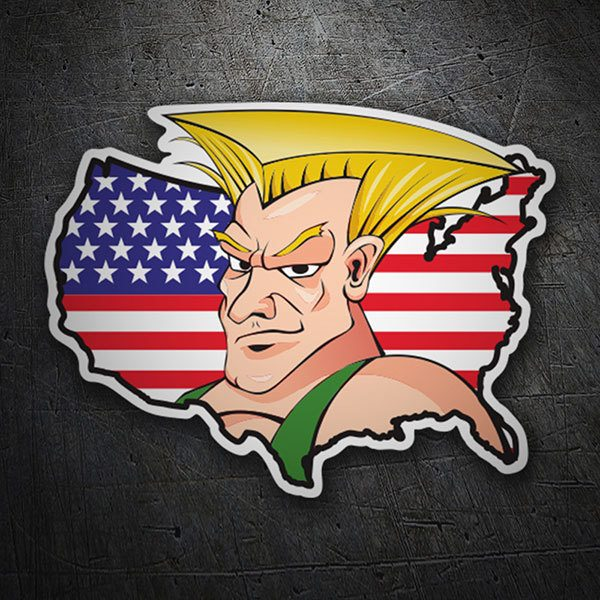 Car & Motorbike Stickers: Guile