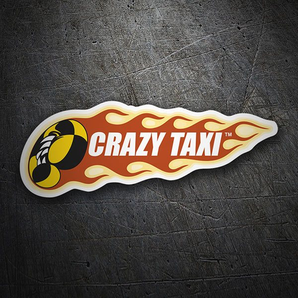 Car & Motorbike Stickers: Crazy Taxi