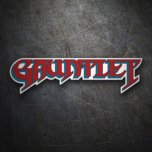 Car & Motorbike Stickers: Gauntlet red Logo