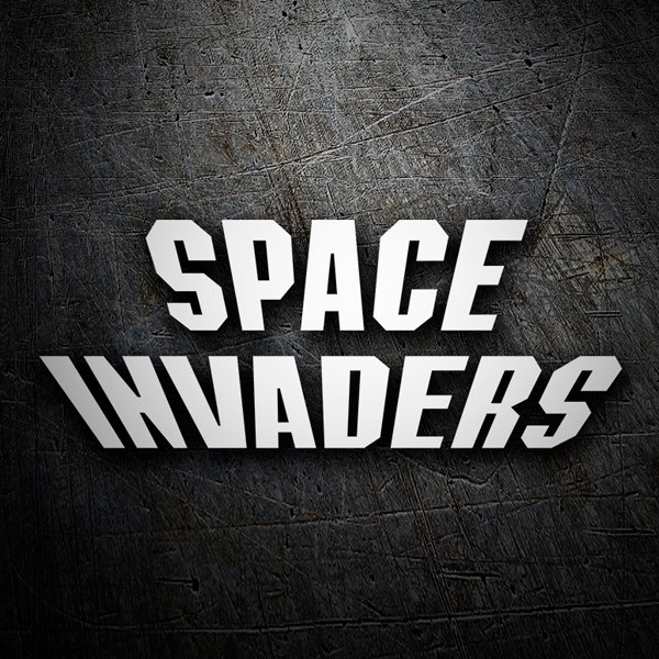 Car & Motorbike Stickers: Space Invaders Logo