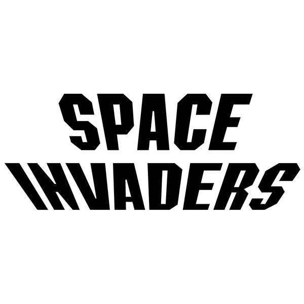 Sticker Space Invaders Logo Muraldecal Com