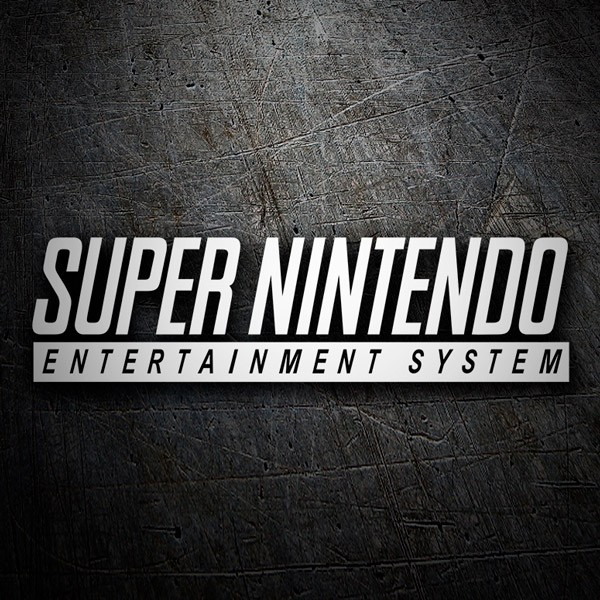 Car & Motorbike Stickers: Super Nintendo Logo