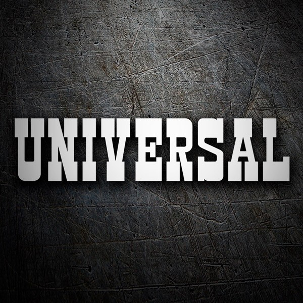 Car & Motorbike Stickers: Universal Entertainment